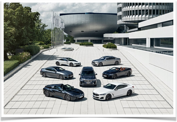 BMW Group Tower and Museum with BMW Luxury Line