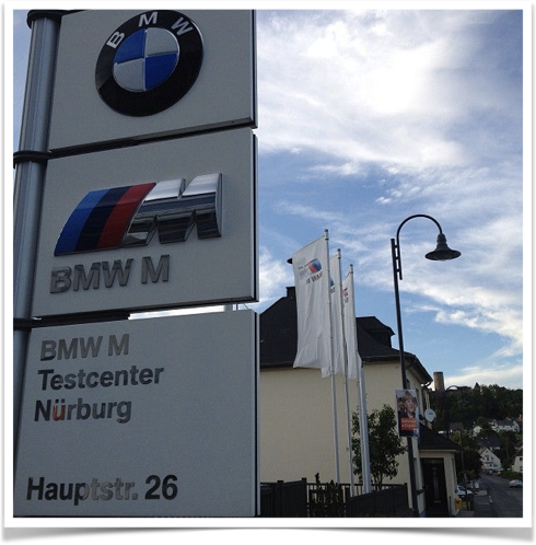 BMW M Testcenter Nürburg Display